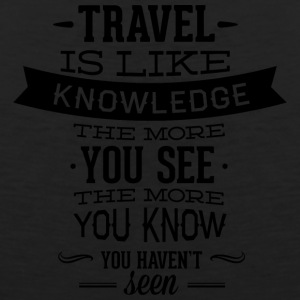 travel_like_knowledge - Men's Premium Tank