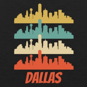 Retro Dallas TX Skyline Pop Art - Men's Premium Tank