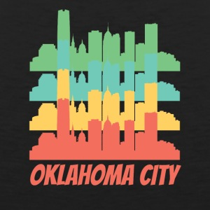Retro Oklahoma City OK Skyline Pop Art - Men's Premium Tank