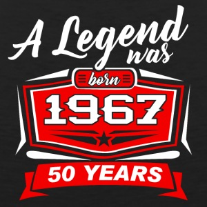 50 YEARS Birthday 1967 a legend T-Shirt - Hoodie - Men's Premium Tank