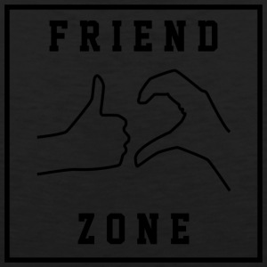 Friendzone | Romance, Valentines, Friends, Love - Men's Premium Tank