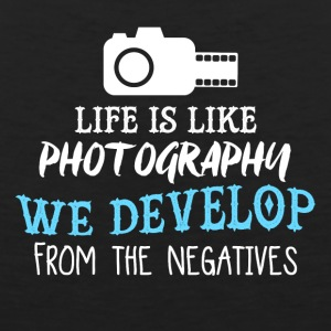 Life Is Like Photography PNG - Men's Premium Tank