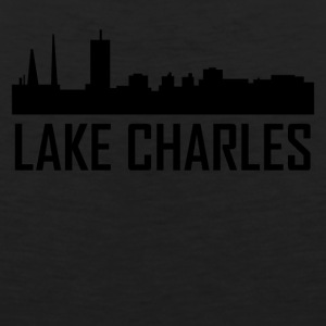 Lake Charles Louisiana City Skyline - Men's Premium Tank