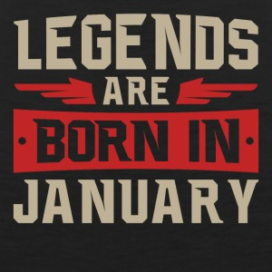 Legends Are Born January - Men's Premium Tank