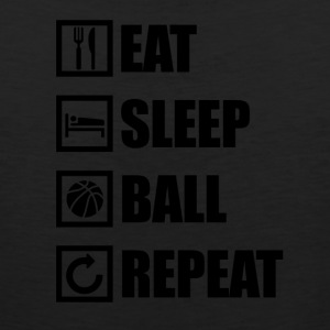 EAT SLEEP BALL REPEAT - Men's Premium Tank