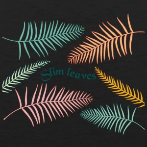 color slim leaves - Men's Premium Tank