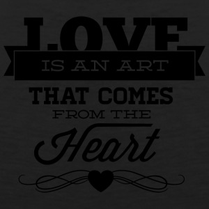 love_is_an_art_that_comes_from_the_heart - Men's Premium Tank