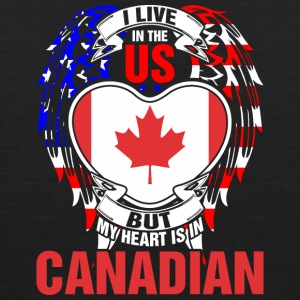 I Live In The Us But My Heart Is In Canadian - Men's Premium Tank