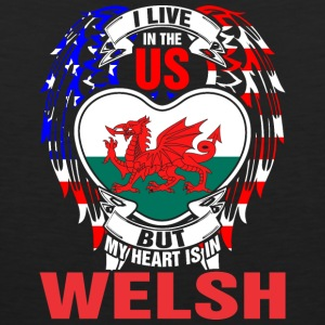 I Live In The Us But My Heart Is In Welsh - Men's Premium Tank