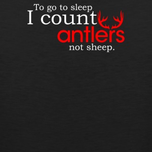 I Count Antlers Not Sheep - Men's Premium Tank