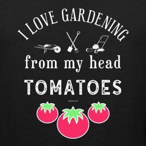 I Love Gardening T-Shirt for Gardener and Nature - Men's Premium Tank
