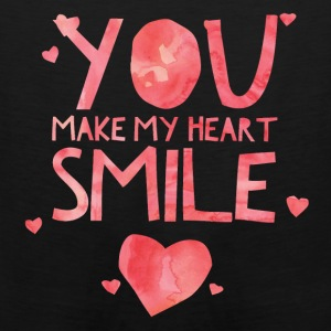 Cute & Cool Love Apparel - You Make My Heart Smile - Men's Premium Tank