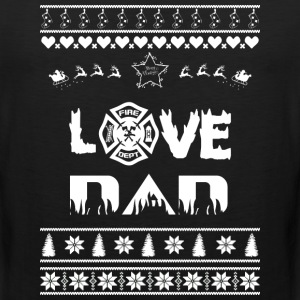 Merry Christmas Firefighter Dad - Men's Premium Tank