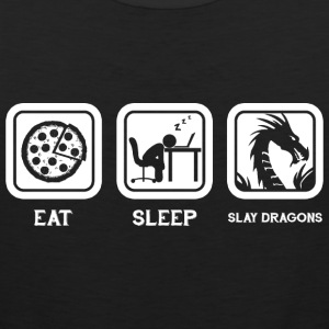 Eat Sleep Slay Dragons Repeat T Shirt - Men's Premium Tank