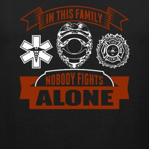 In the family noboy fightsc alone - Men's Premium Tank