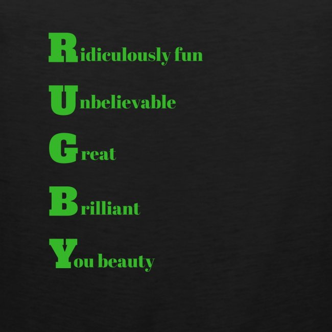 Rugby design for T-shirts and other merchandise