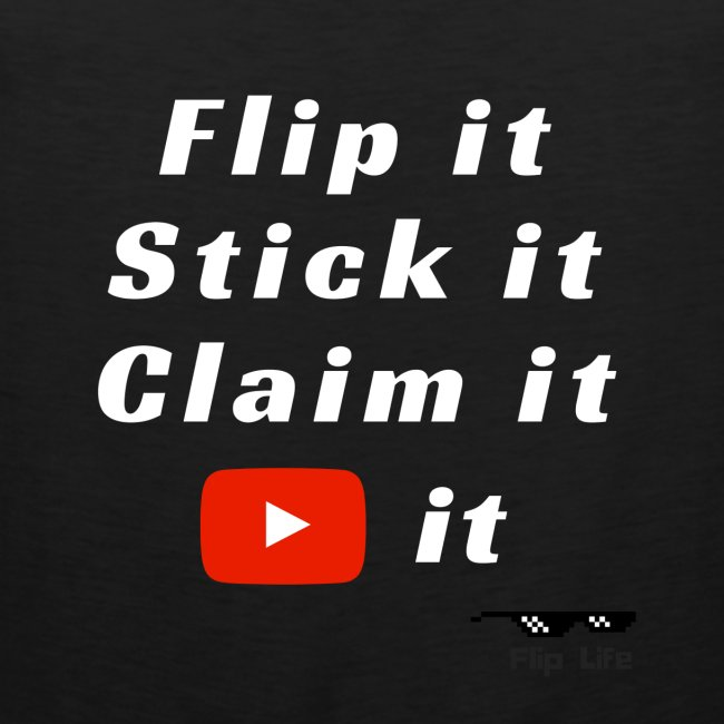 Flip It White Design T-Shirt - Back Flip Inverted