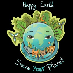 Happy earth save your planet