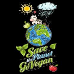 Save the planet go vegan