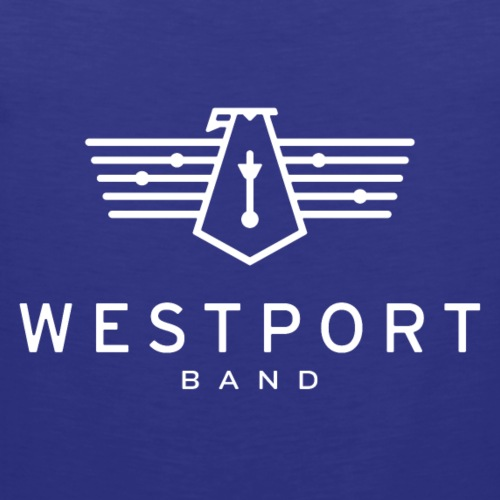 Westport Band White on transparent - Men's Premium Tank