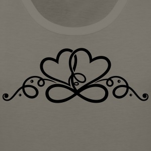Two hearts in love with infinity symbol. - Men's Premium Tank