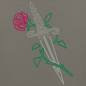 Rose with Knife - Men's Premium Tank