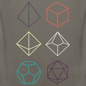 Minimal dnd (dungeons and dragons) dice - Men's Premium Tank