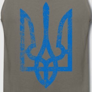 distressed-ukraine-blue - Men's Premium Tank