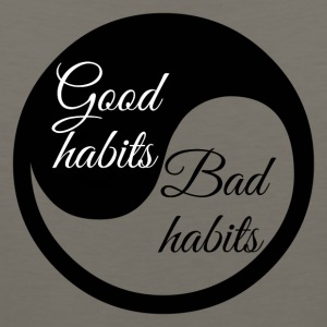 Good Habit Bad Habits, Yin Yang - Men's Premium Tank