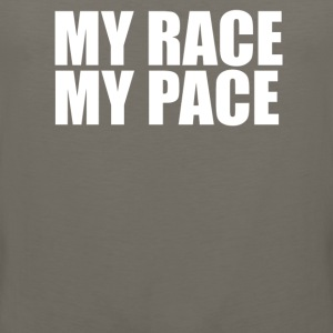 MY RACE MY PACe T shirt - Men's Premium Tank