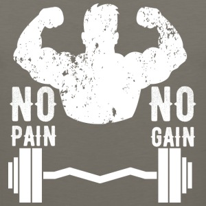 No Pain No Gain | Gym,Fitness T-Shirt - Men's Premium Tank