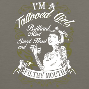 I'm a Tattoo girl brilliant Mind Sweet Heart - Men's Premium Tank