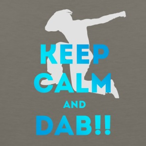 dab keep calm dabbing football touchdown dance lol - Men's Premium Tank