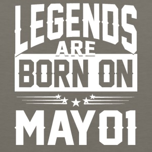Legends are born on May 01 - Men's Premium Tank
