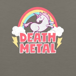 Death Metal Unicorn Thunder Rainbow Clouds Unicorn - Men's Premium Tank