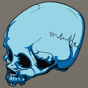 blue_skull_with_scar - Men's Premium Tank