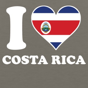 I Love Costa Rica Costa Rican Flag Heart - Men's Premium Tank