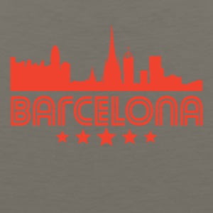 Retro Barcelona Skyline - Men's Premium Tank