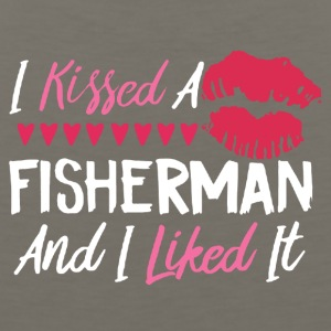I KISSED A FISHERMAN SHIRT - Men's Premium Tank