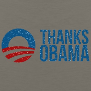Thanks Obama Logo - Men's Premium Tank