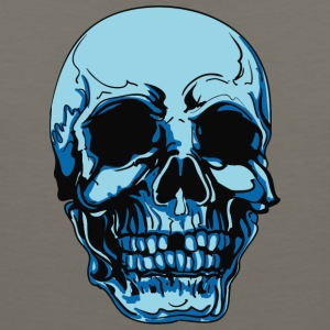 blue_skull_without_1_tooth - Men's Premium Tank