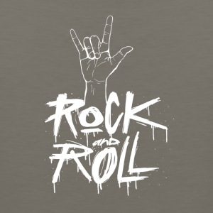 Rock and Roll Hand (White) - Men's Premium Tank