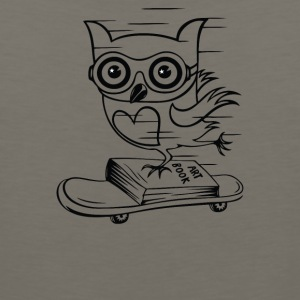 Owl With Skateboard - Men's Premium Tank