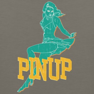 laying_pinup_sexy_girl_vintage - Men's Premium Tank