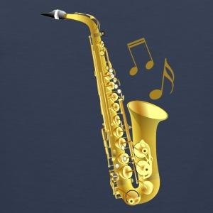 Saxophone with music notes - Men's Premium Tank