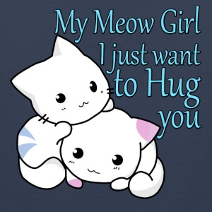 My Meow Girl, I Just Want to Hug You T-shirt - Men's Premium Tank