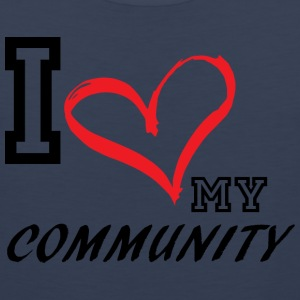 I_LOVE_MY_COMMUNITY - PLUS SIZE - Men's Premium Tank