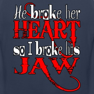 He broke her heart - Men's Premium Tank