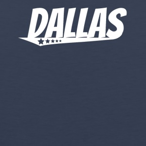 Dallas Retro Comic Book Style Logo - Men's Premium Tank