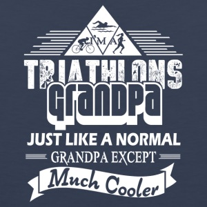 Triathlons Grandpa Cooler Shirt - Men's Premium Tank